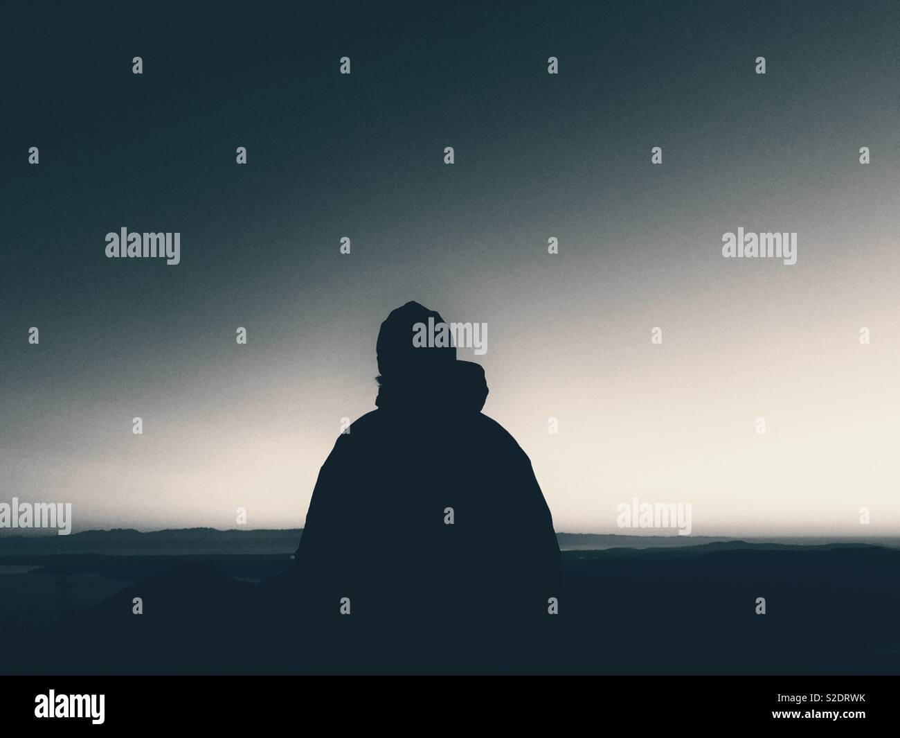 man and sky - Stock Image