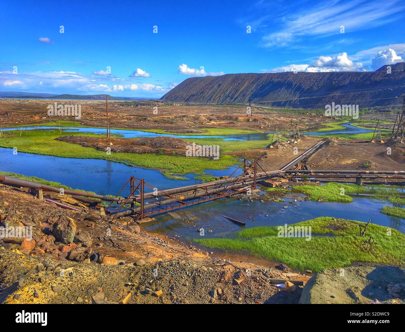 Industrial pollution - Stock Image