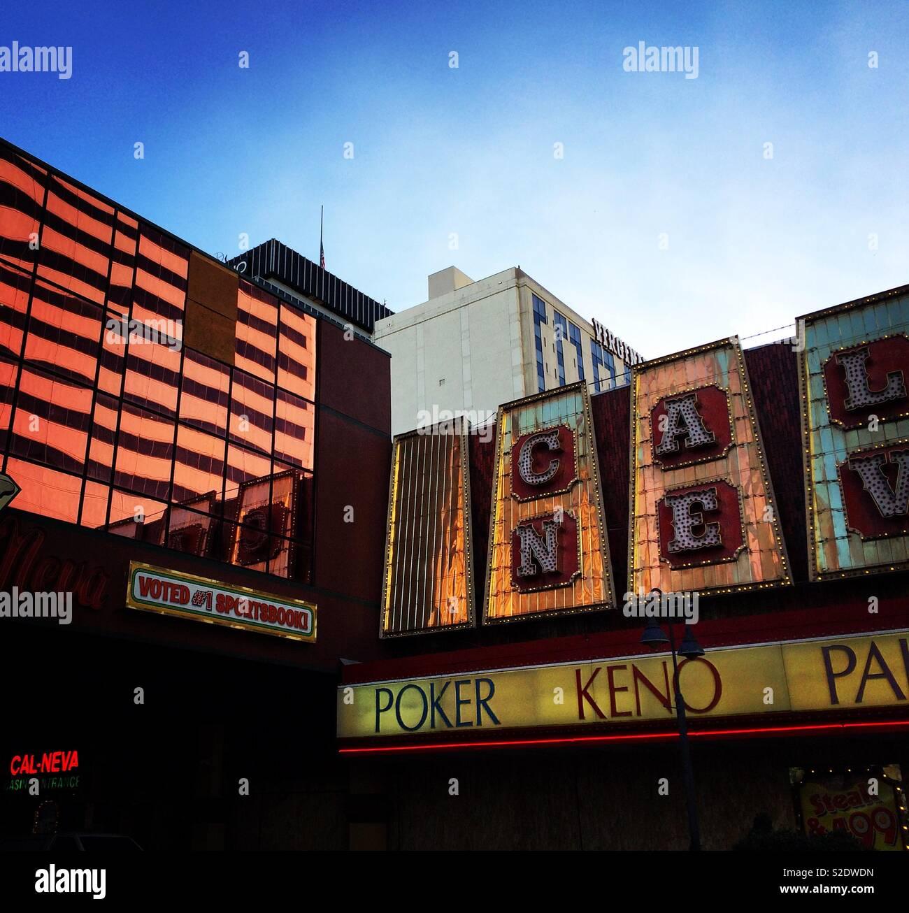 Club Cal Neva, Downtown Reno, Nevada, United States - Stock Image