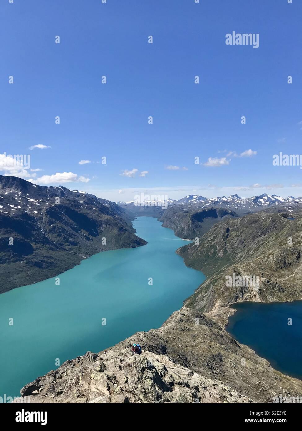 Besseggen, vågå, Norway - Stock Image