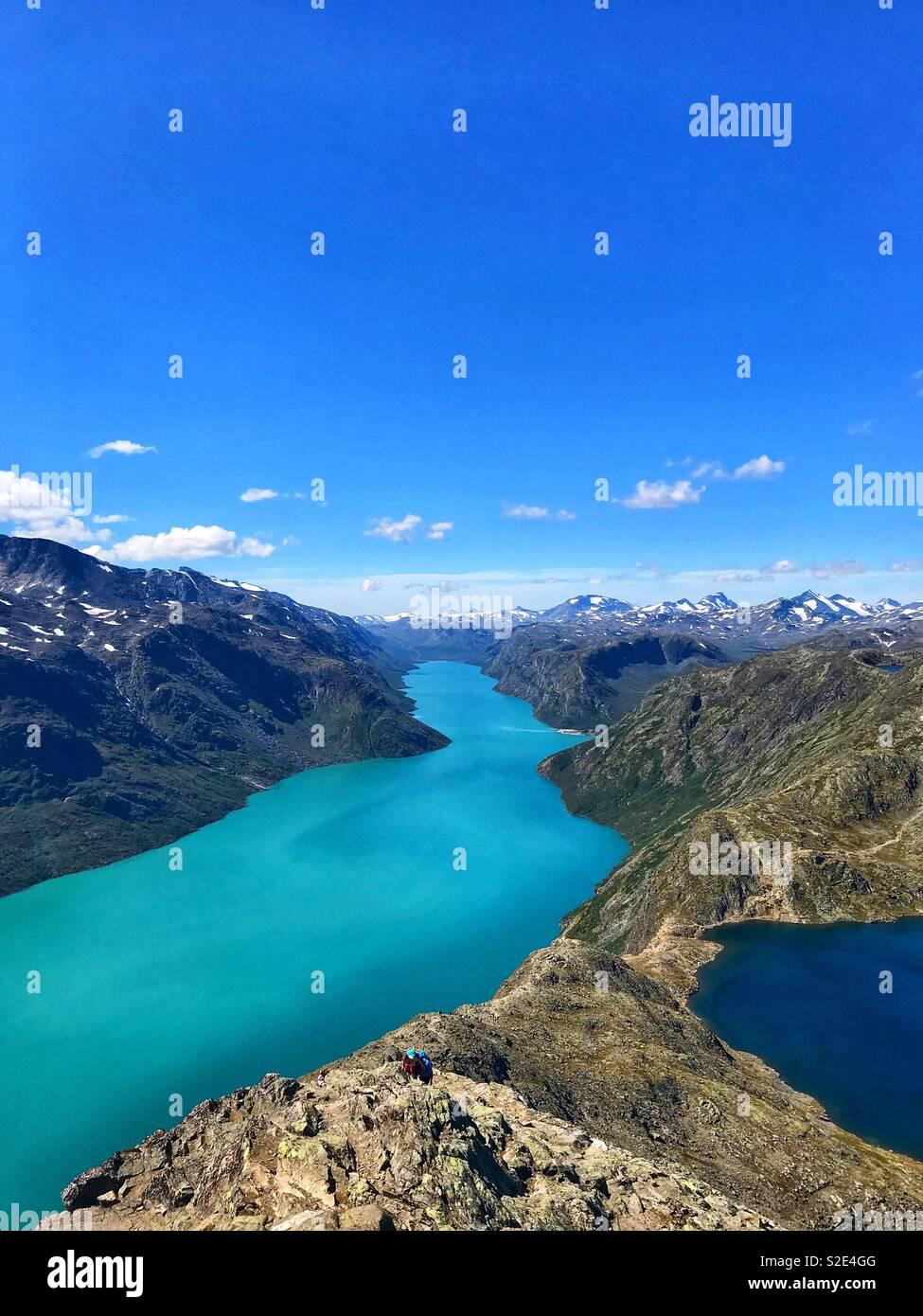 Besseggen, Norwegian mountain. Summer shot - Stock Image