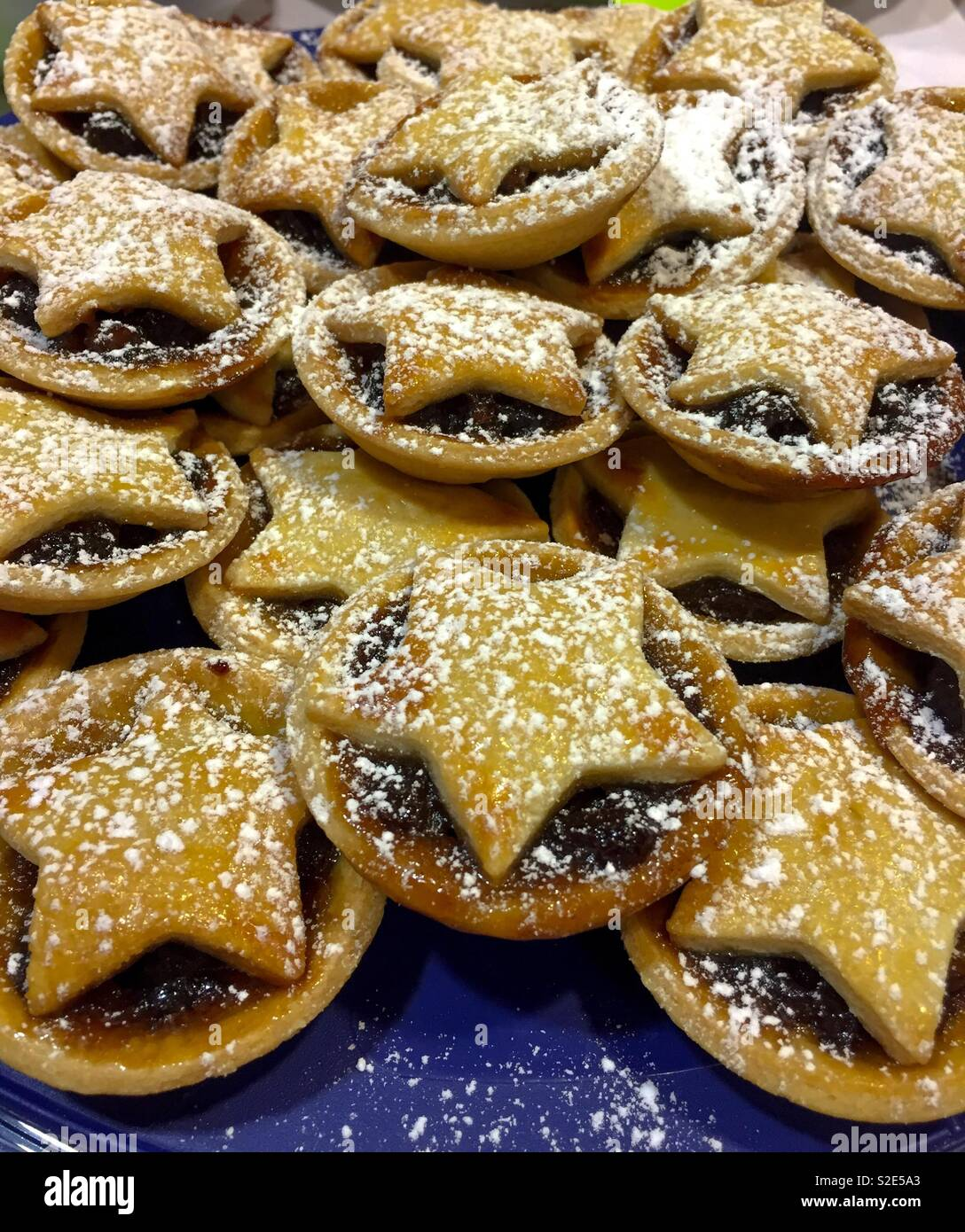 Home-made mince pies - Stock Image