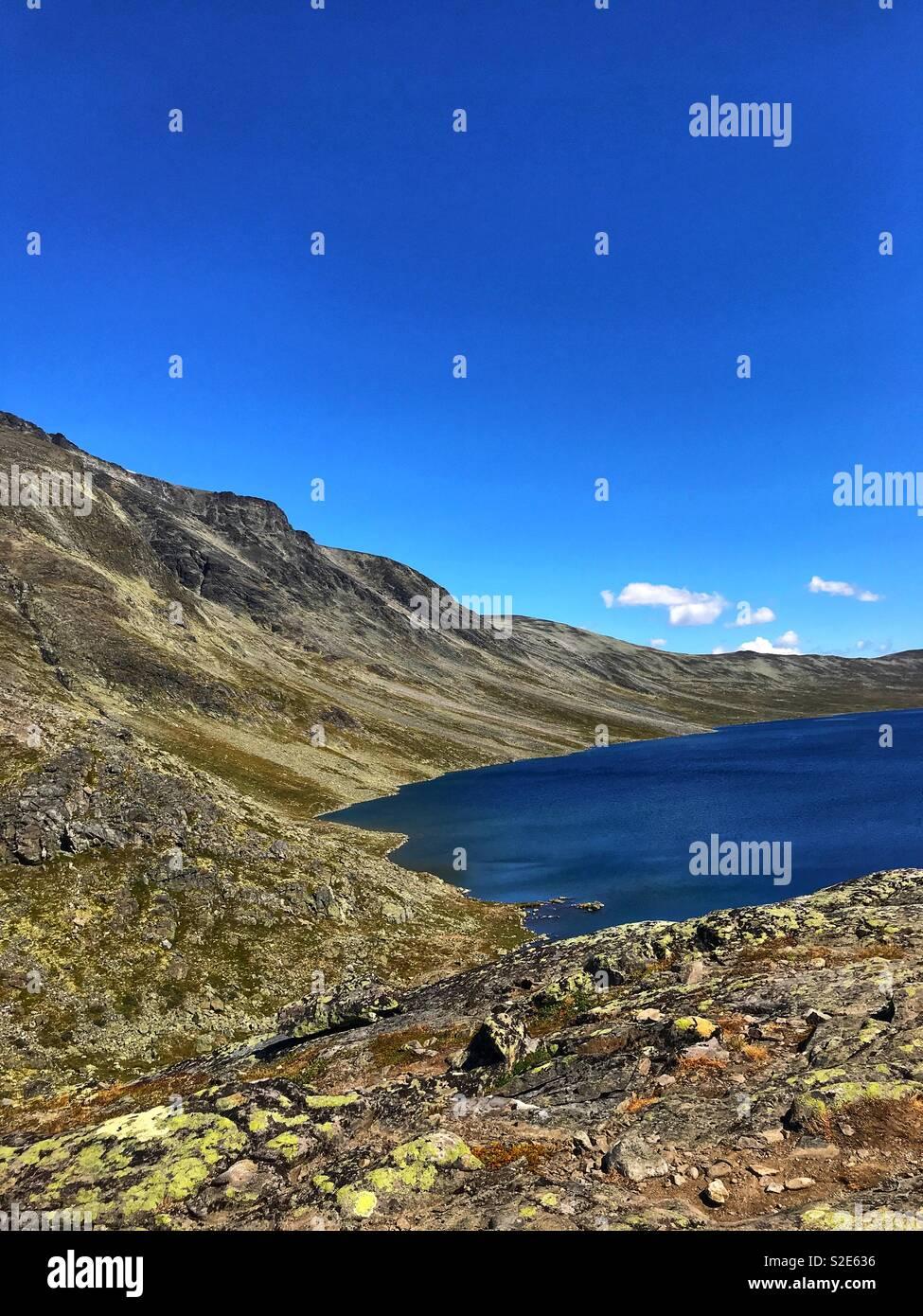 Norwegian nature, mountain - Stock Image