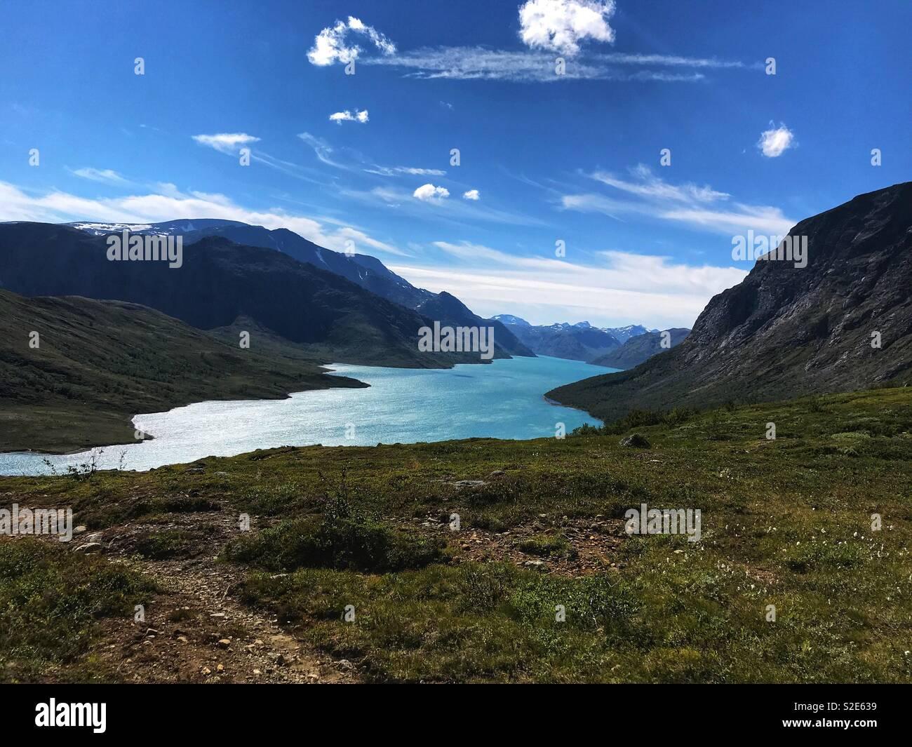 Besseggen, Norway - Stock Image