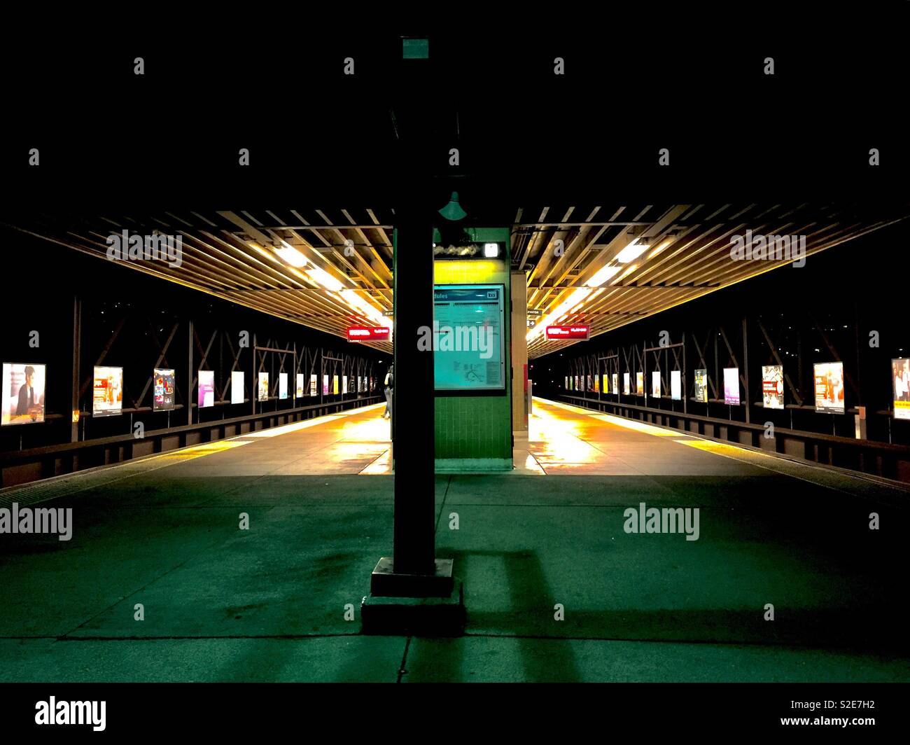 Rockridge BART station, Oakland, California - Stock Image