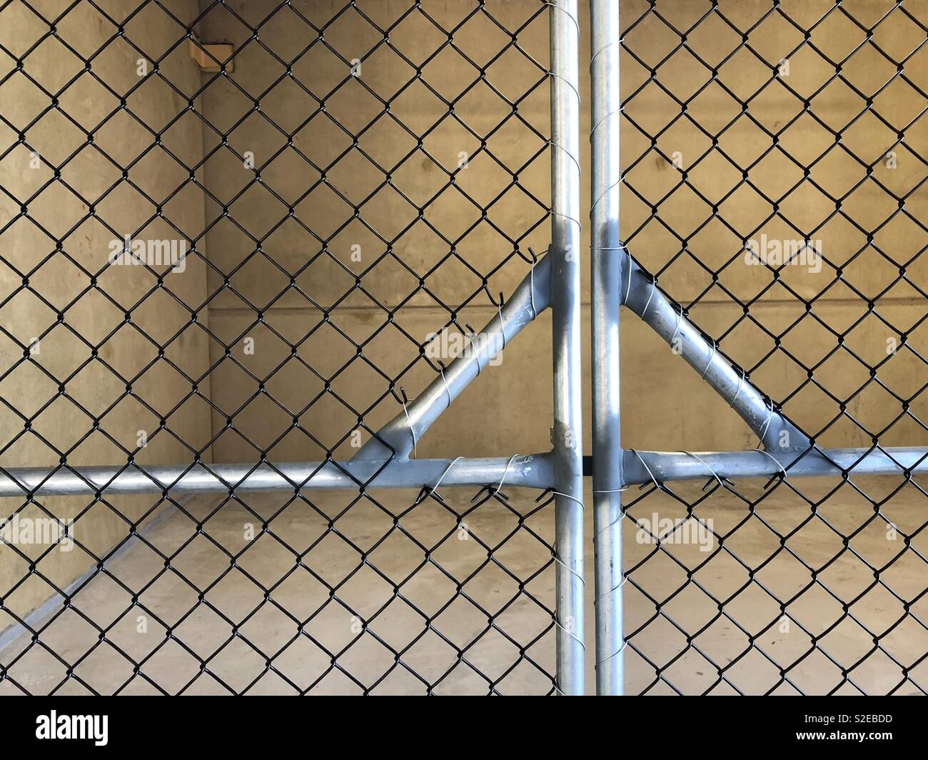 Wire gate. - Stock Image