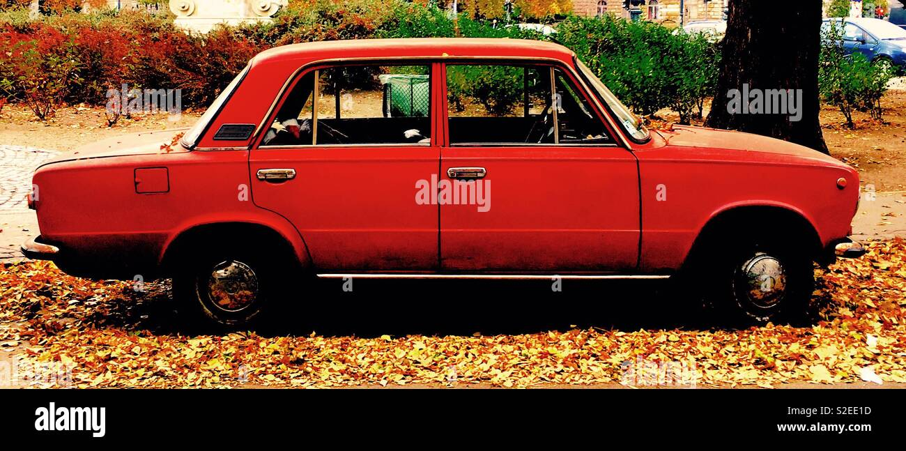 Red LADA - Stock Image