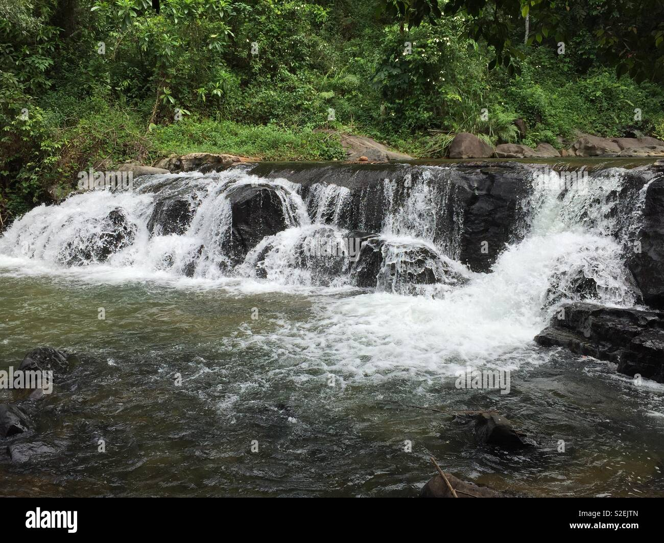 Kumari ella upper srilanka - Stock Image