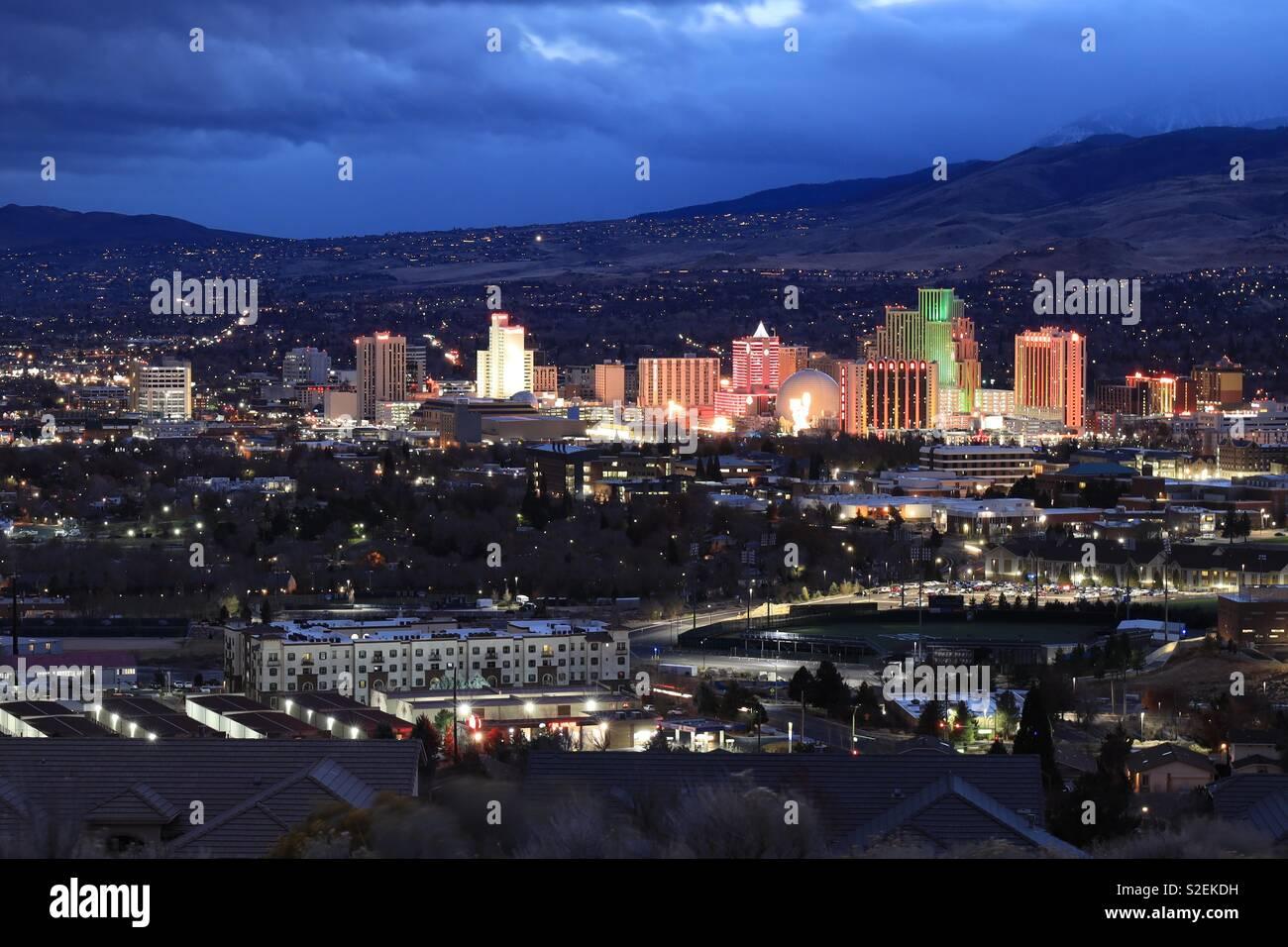 Reno skyline - Stock Image