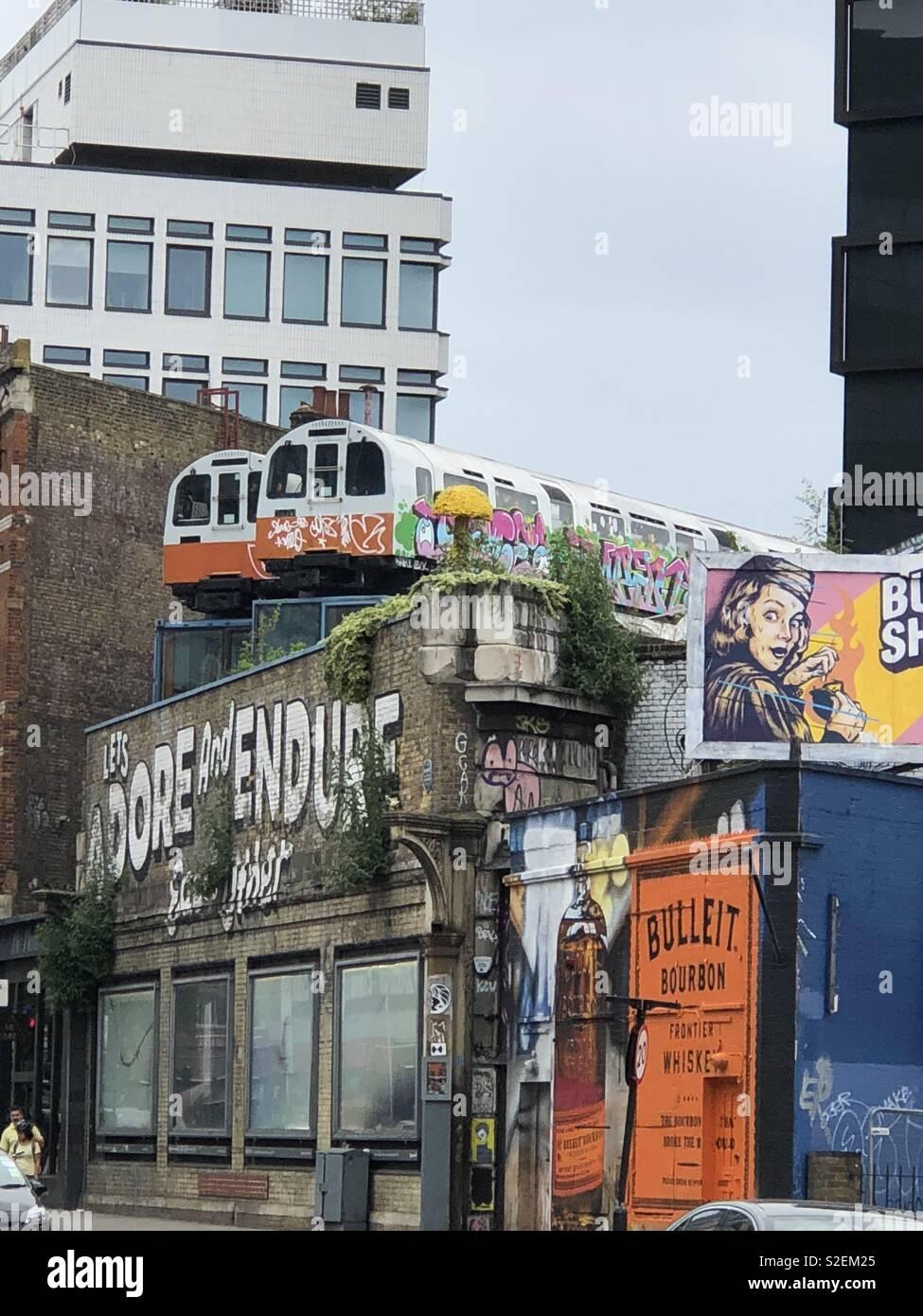East London Graffiti - Stock Image