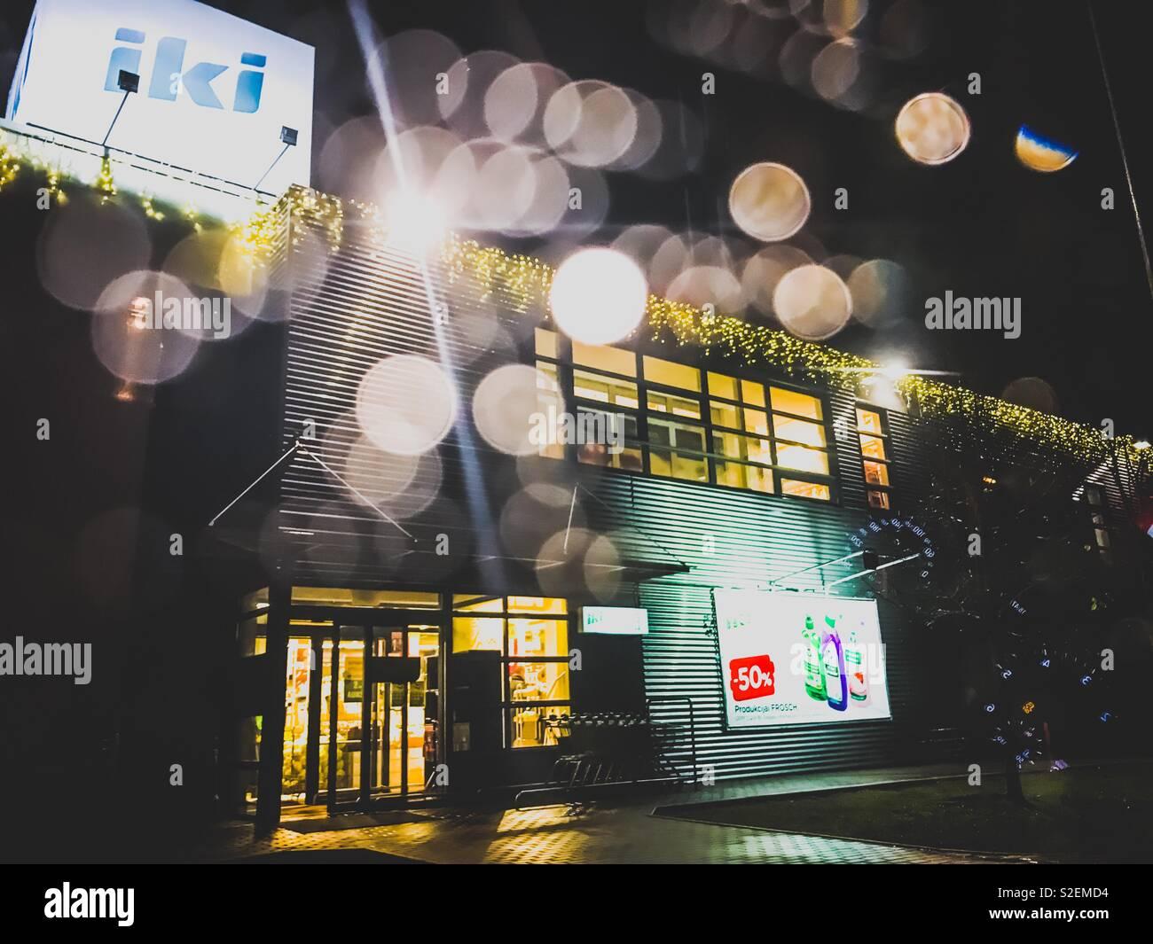 IKI parduotuve, Kalėdos - Stock Image