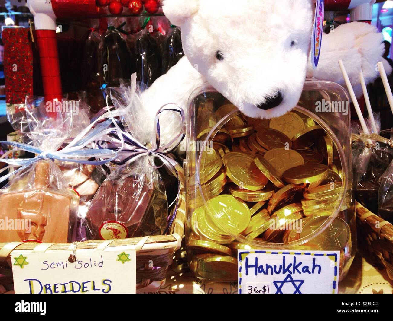 Hannukah candy - Stock Image