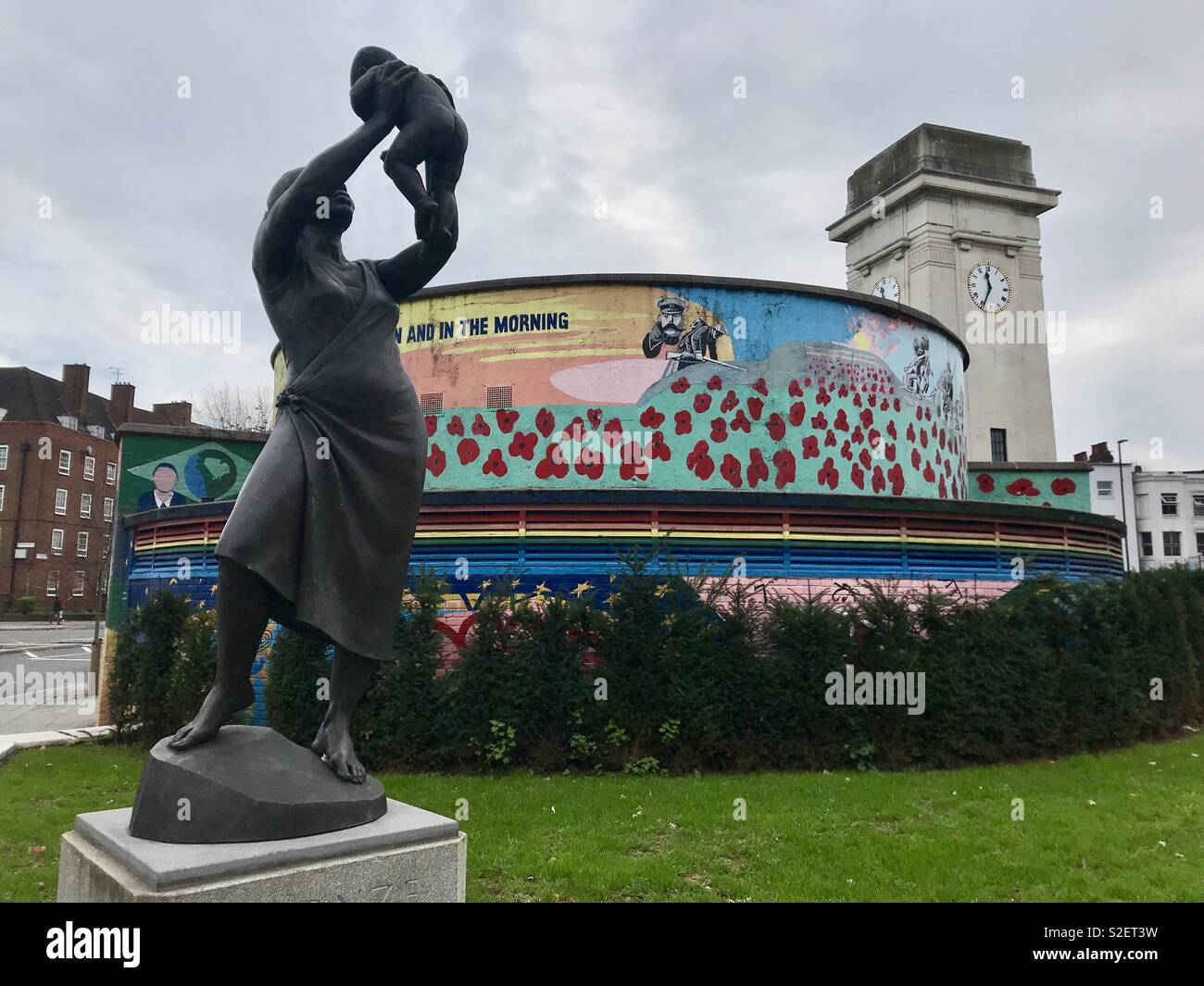 Stockwell Remembrance Garden - Stock Image