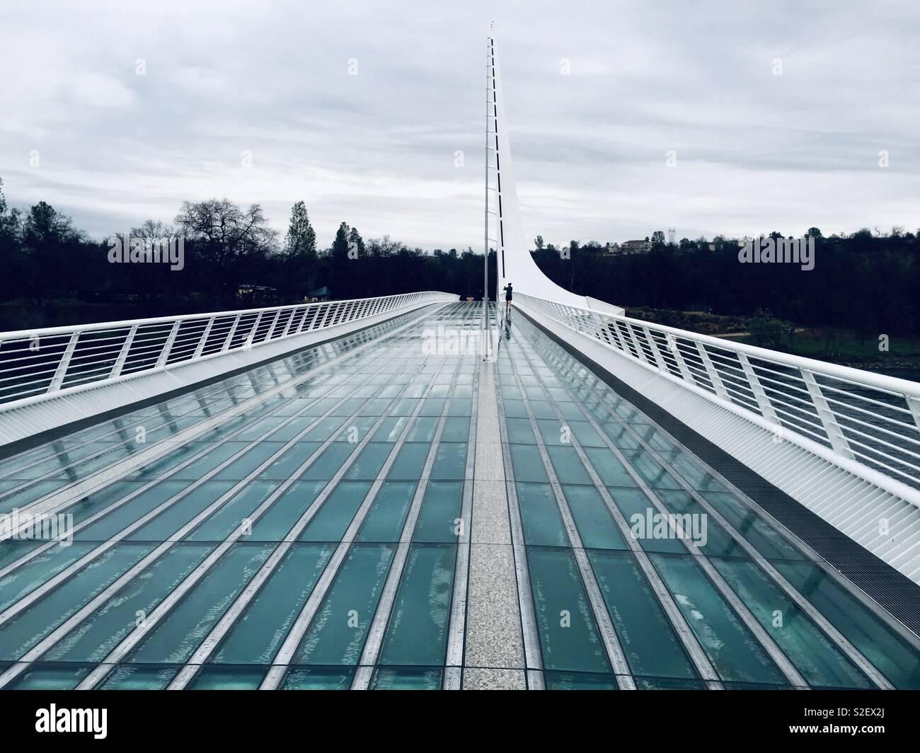 Sundial Bridge Redding - Stock Image