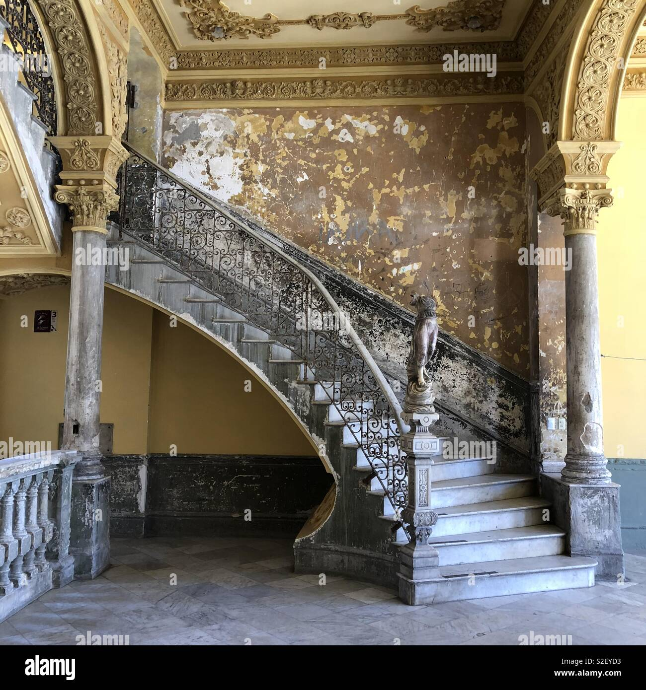 The staircase leading to La Guarida restaurant, a paladar in a classic Cuban apartment building in Havana, Cuba. - Stock Image