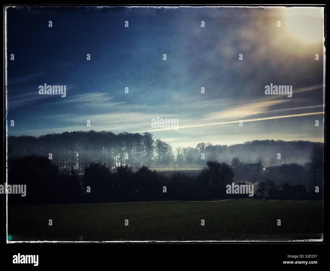 Dawn Landscape - Stock Image