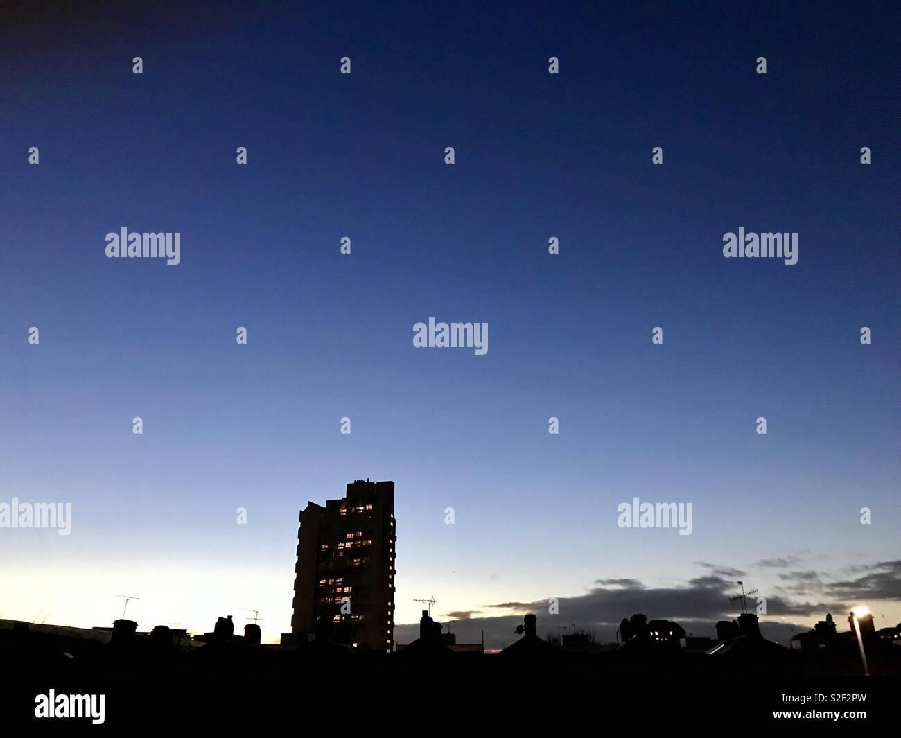 Stockwell London Sunset - Stock Image
