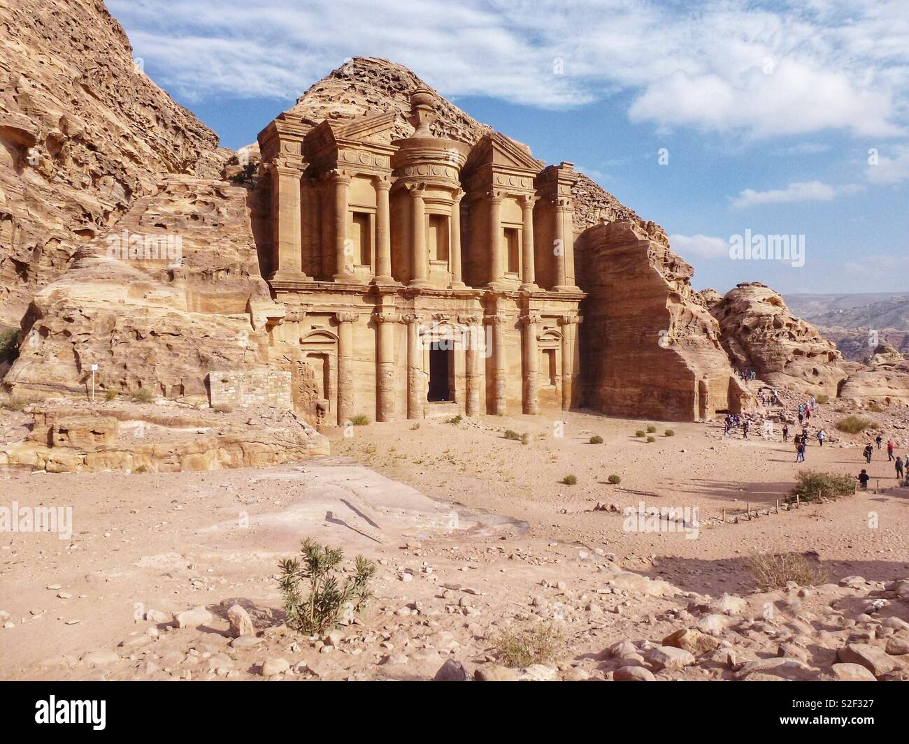 The Monastery, Petra, Jordan. The Red Rose City carved in the rock by the Ancient Nabataeans. - Stock Image