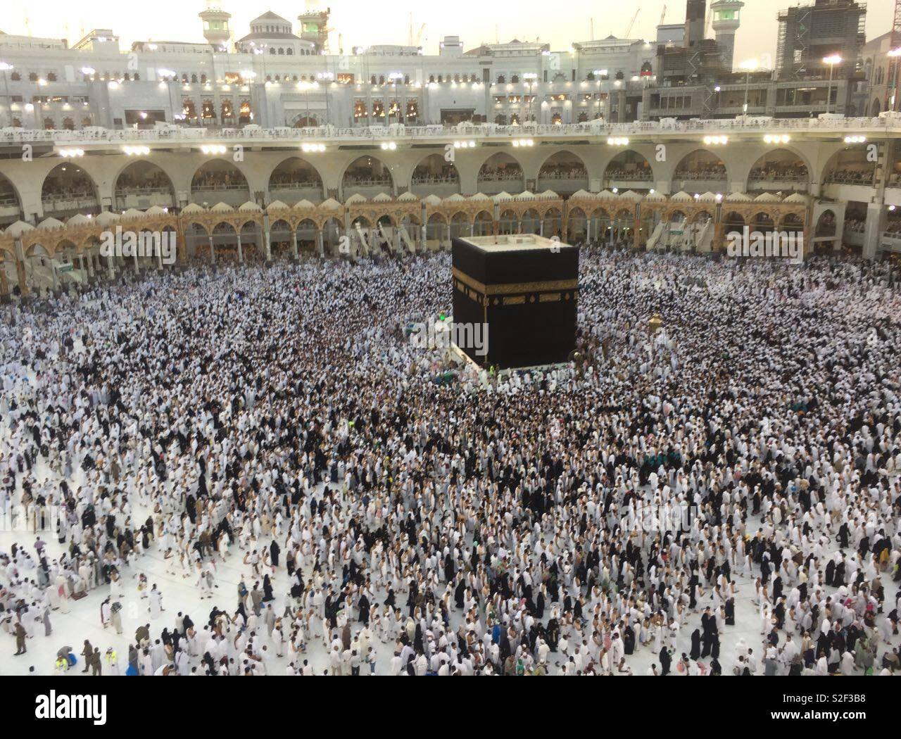 Kabah Masjid Al Haram Makkah Stock Photo Alamy