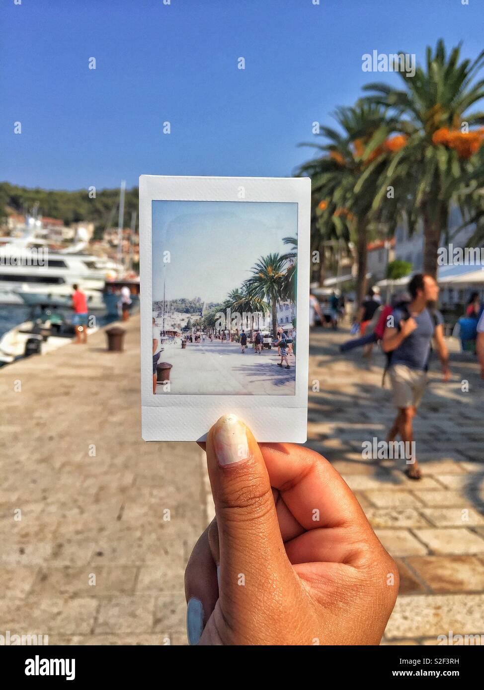 Polaroid of Split - Stock Image