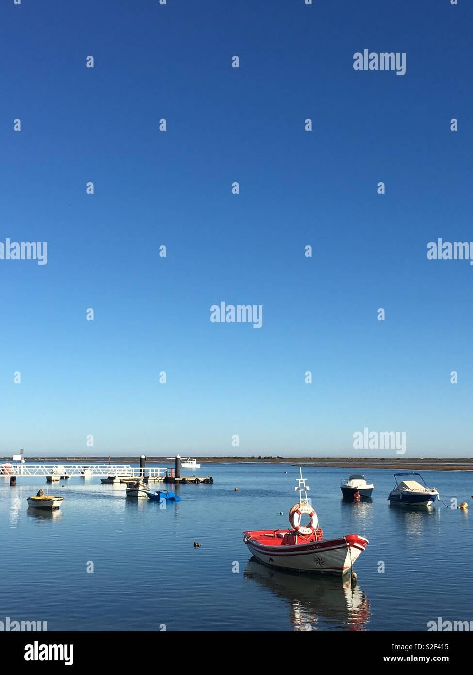 Santa Luzia Estuary Stock Photo