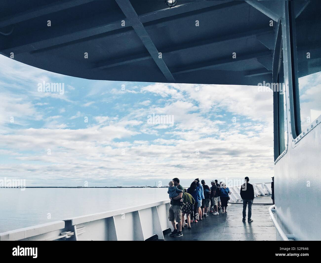 Ferry ride to Victoria BC - Stock Image