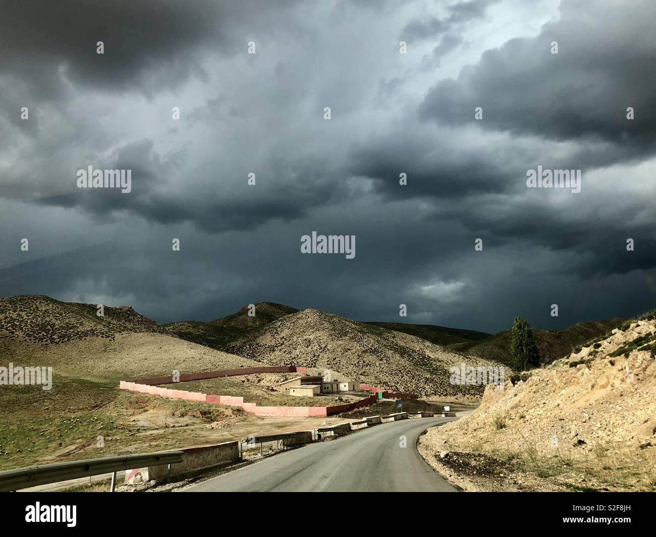 Desert thunder - Stock Image