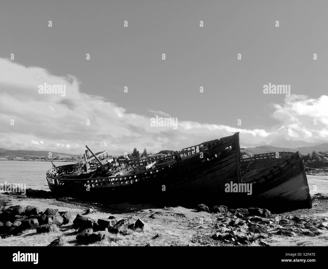 Salen Boats on the Isle of Mull, Inner Hebrides Scotland - Stock Image