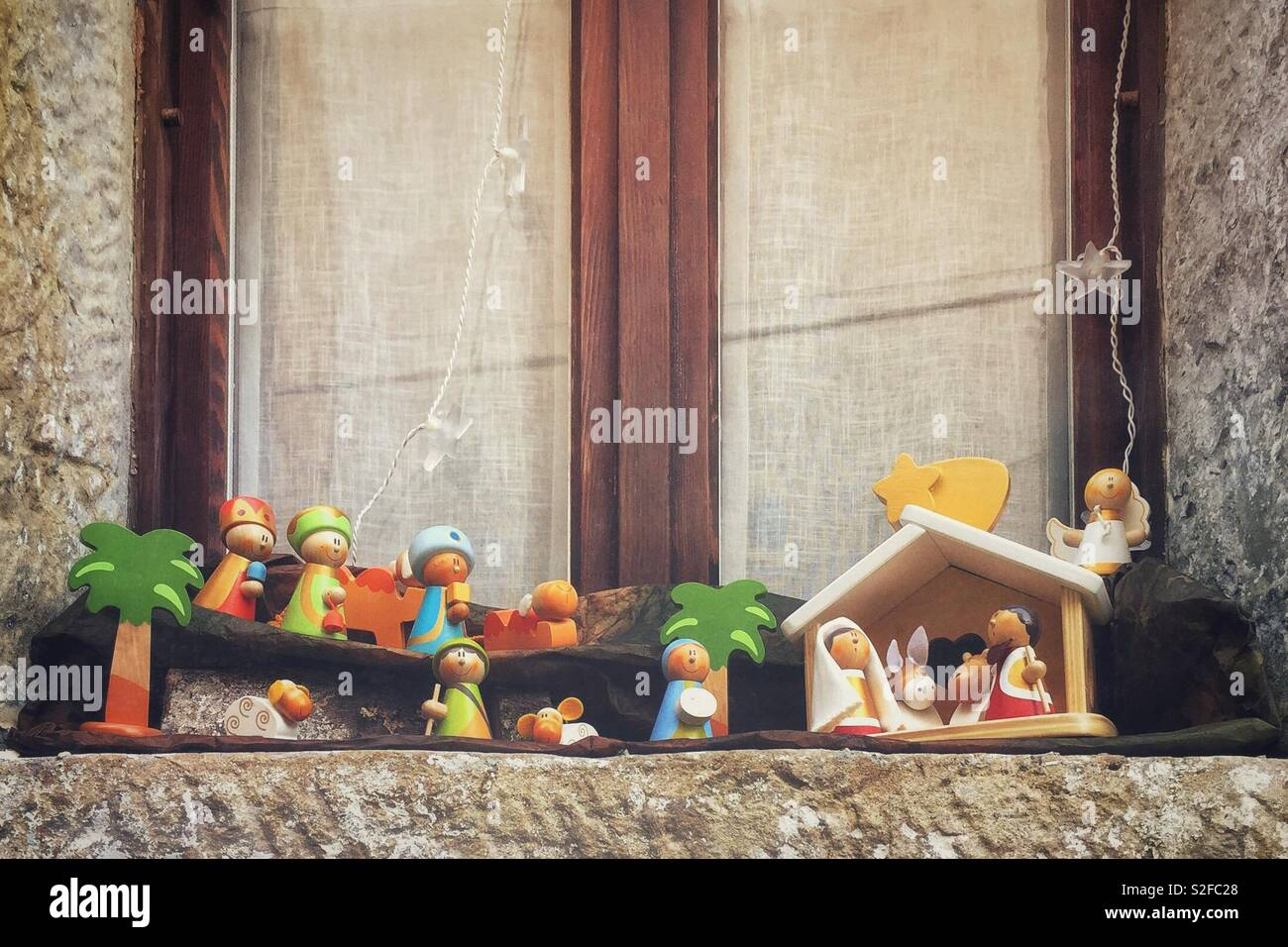 Nativity scene - Stock Image