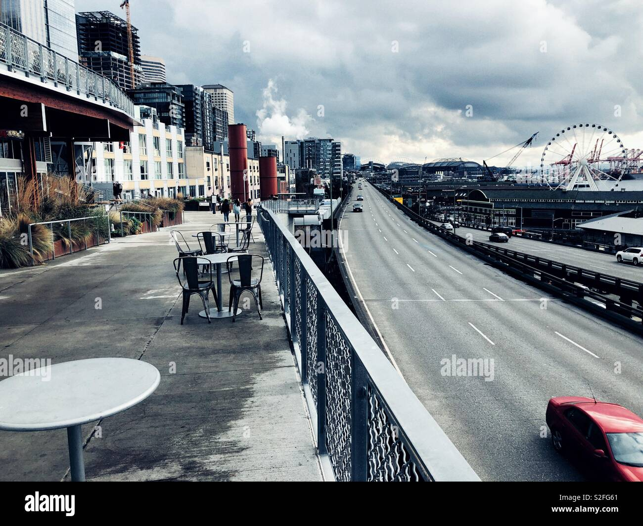 Infamous Seattle viaduct scheduled to be demolished in January 2019 - Stock Image