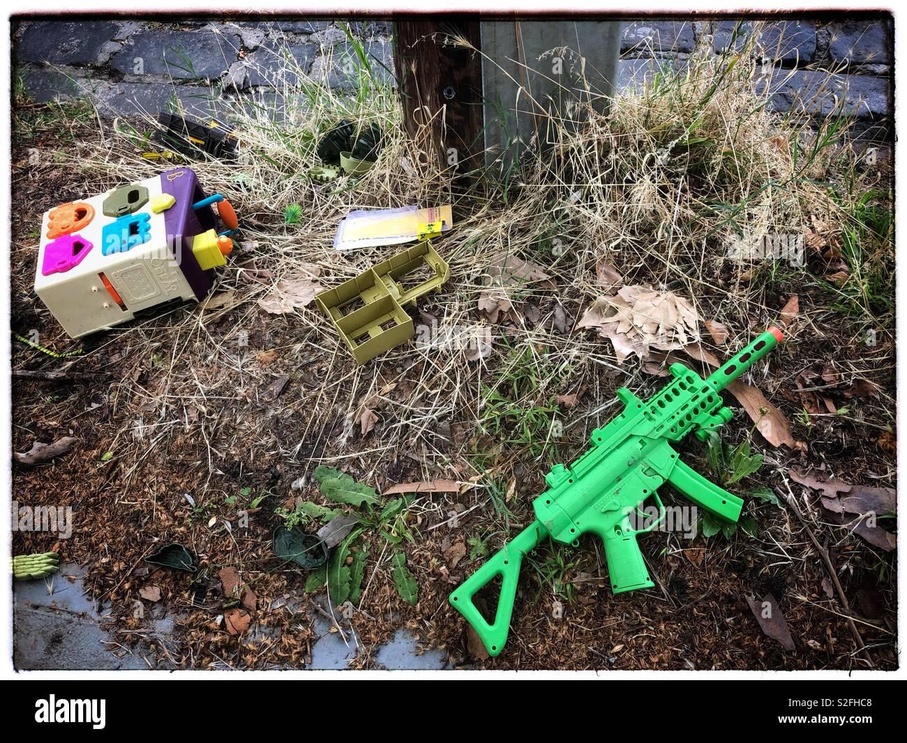 Toy gun - Stock Image