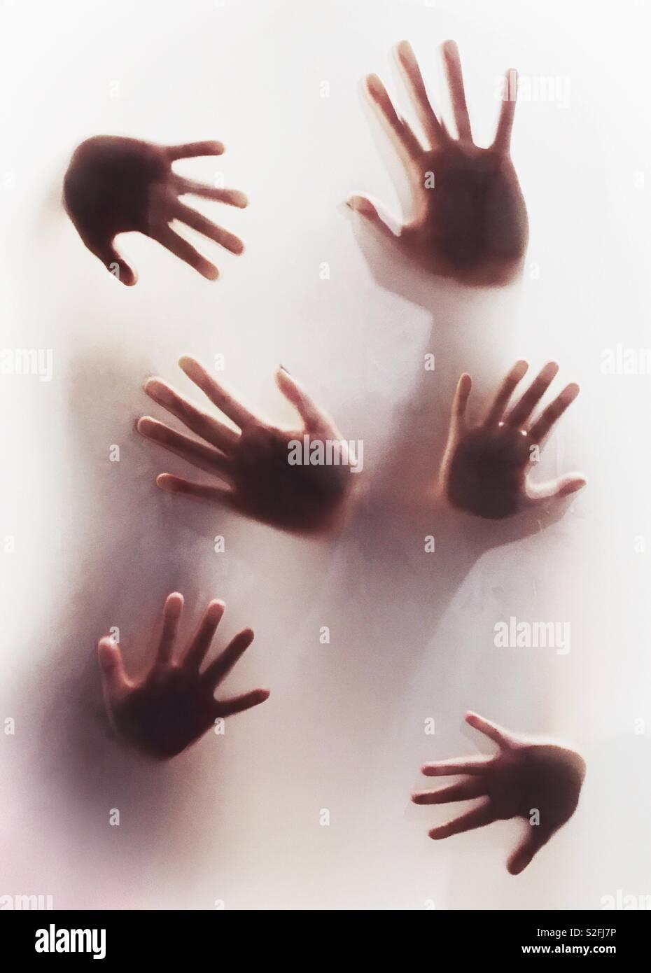 Six handbreadths - Stock Image