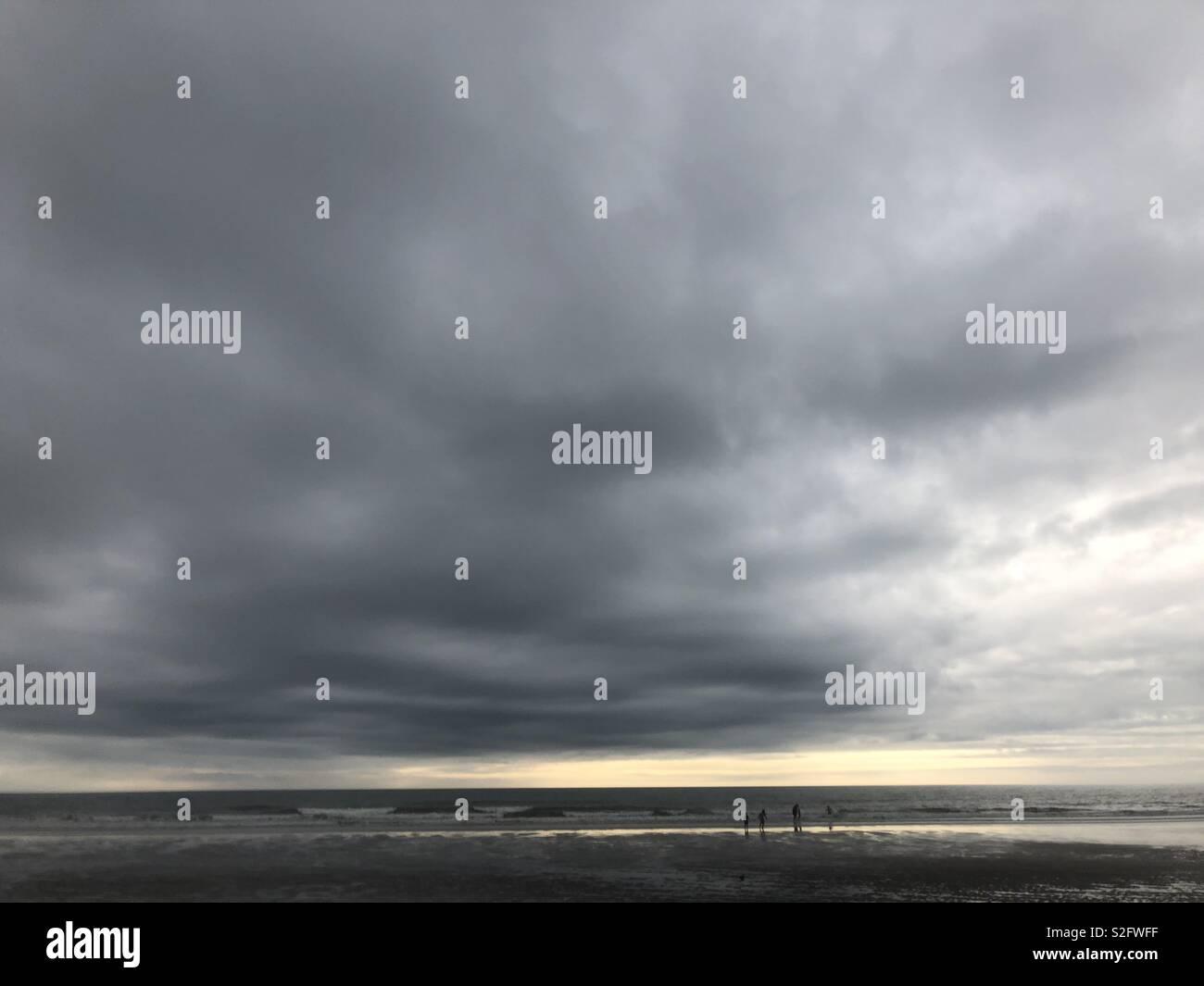 Beach horizon - Stock Image