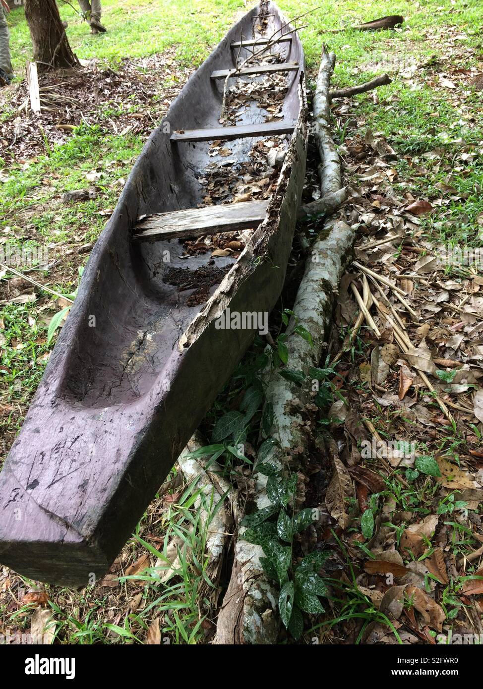 Dugout canoe - Stock Image