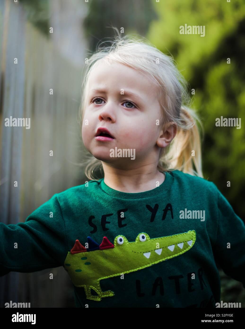 Wandering child - Stock Image