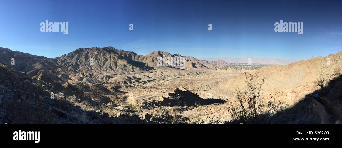 While out hiking, had to sit and take in the full beauty of this vast desert - Stock Image