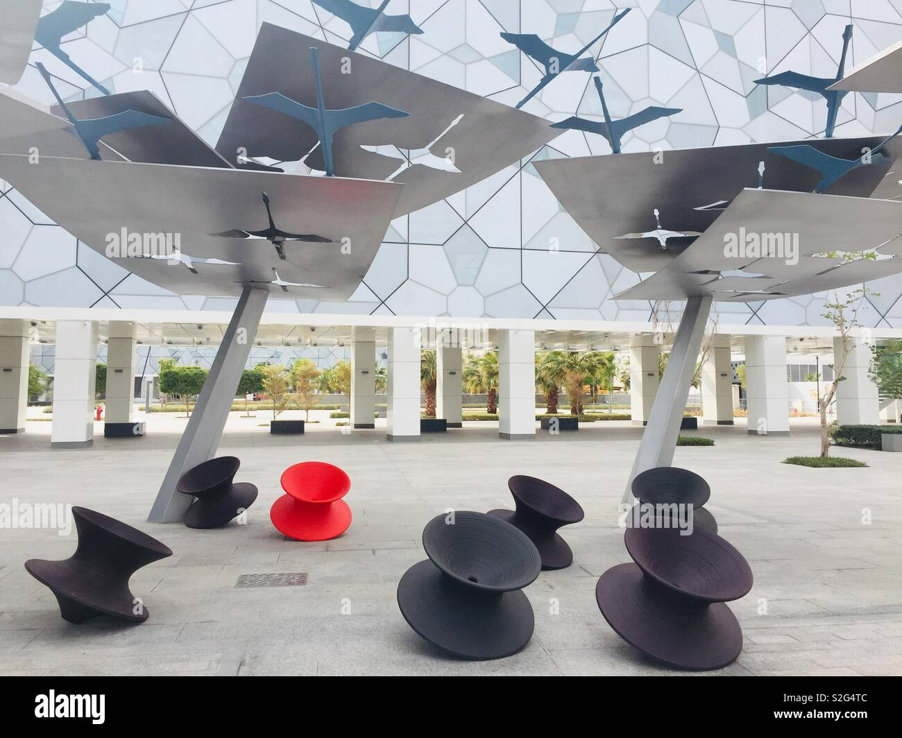 Sculpture in grounds of new Sheikh Abdullah al Salem Cultural Centre in Kuwait City, Kuwait - Stock Image