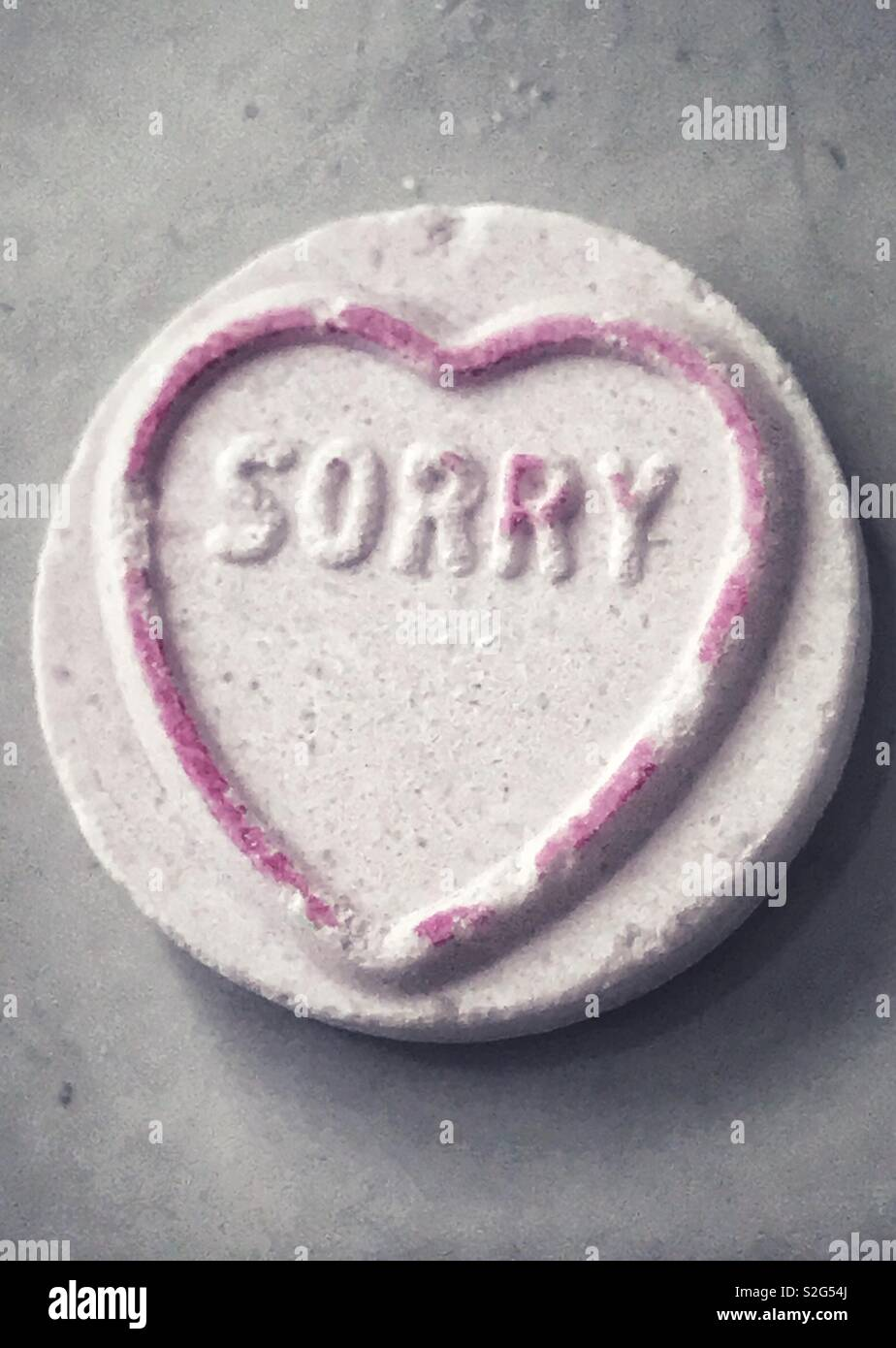 Sorry - Stock Image