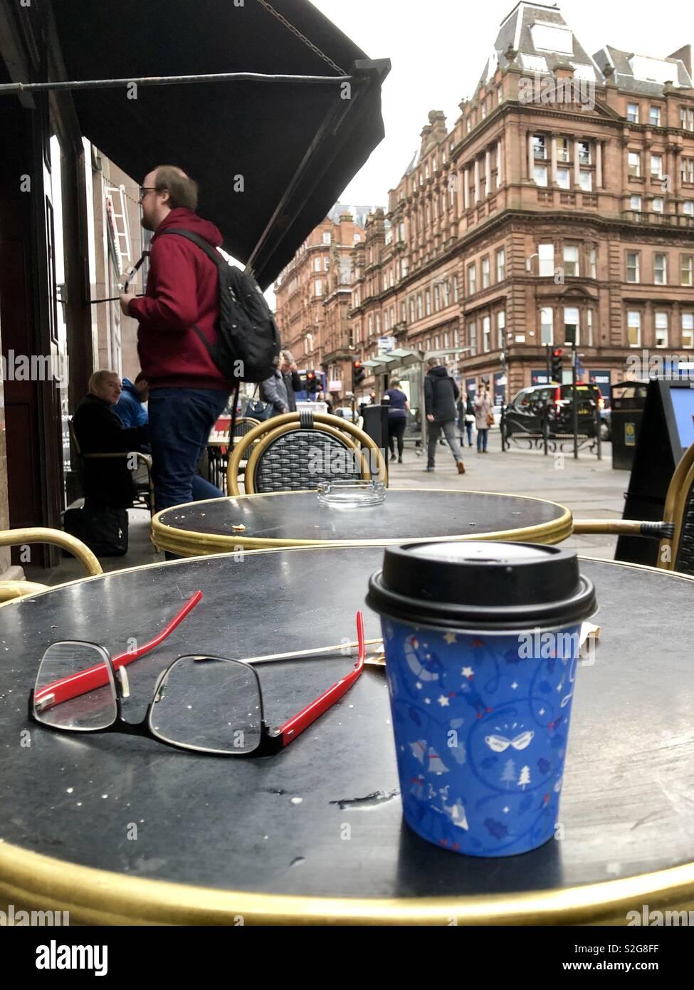 Street scene, Glasgow city centre. Scotland. United Kingdom. - Stock Image