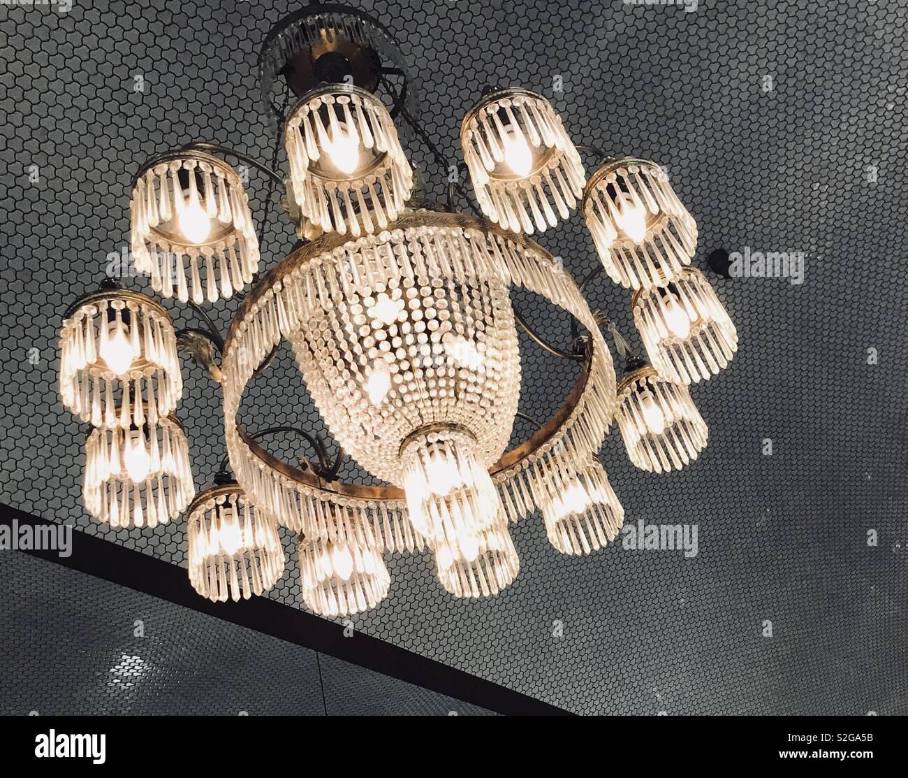 Old beautiful chandelier Stock Photo