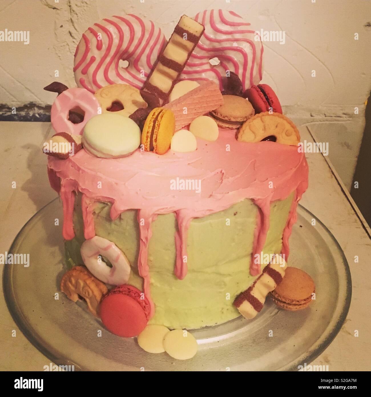 Super Donut Jammy Dodger Cake Stock Photo 311375224 Alamy Funny Birthday Cards Online Benoljebrpdamsfinfo