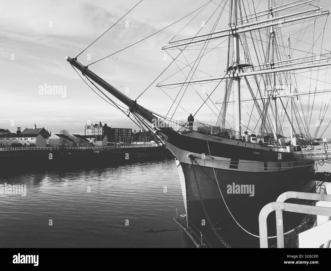 The Glenlee. Tall ship. Glasgow. Scotland. UK. - Stock Image