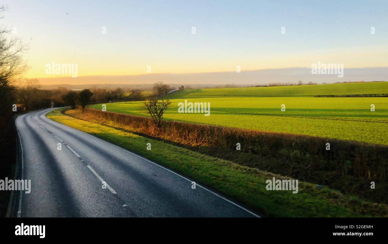 Early morning landscape - Stock Image