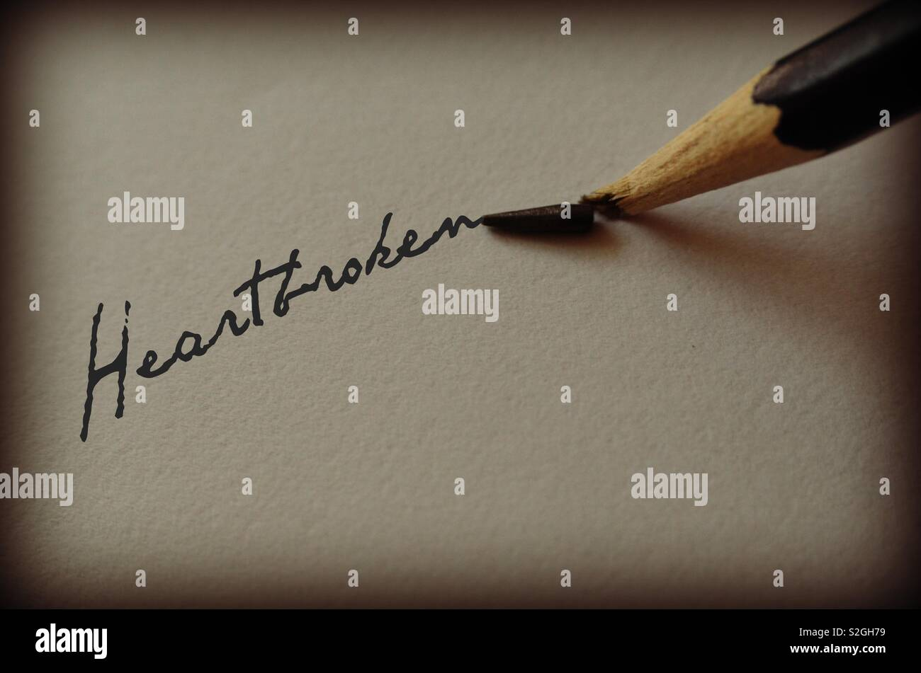 Heartbroken - Stock Image
