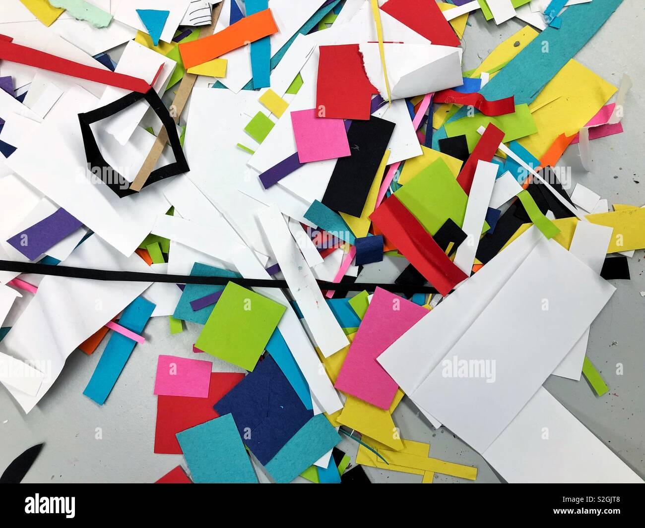 Piles of creative possibilities - Stock Image