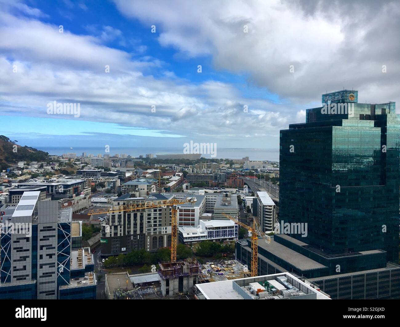 Overcast Day over the Atlantic seaboard cape town - Stock Image
