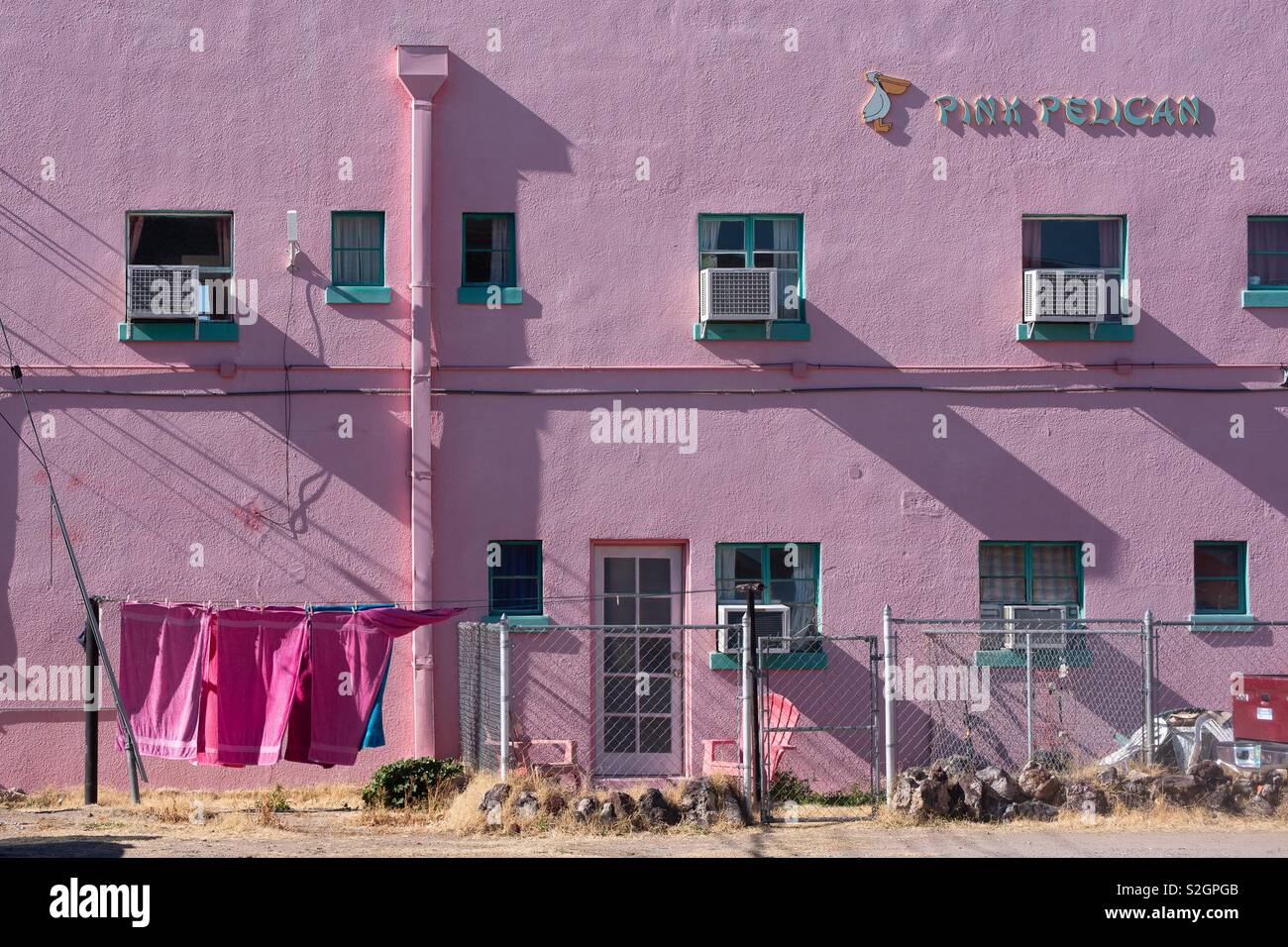 The Pink Pelican hot springs spa - Stock Image