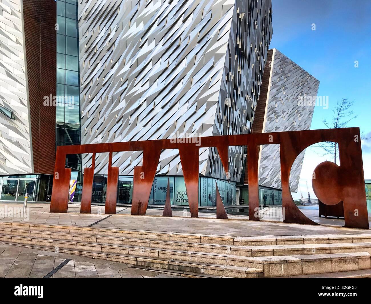 Titanic Museum Belfast - Stock Image