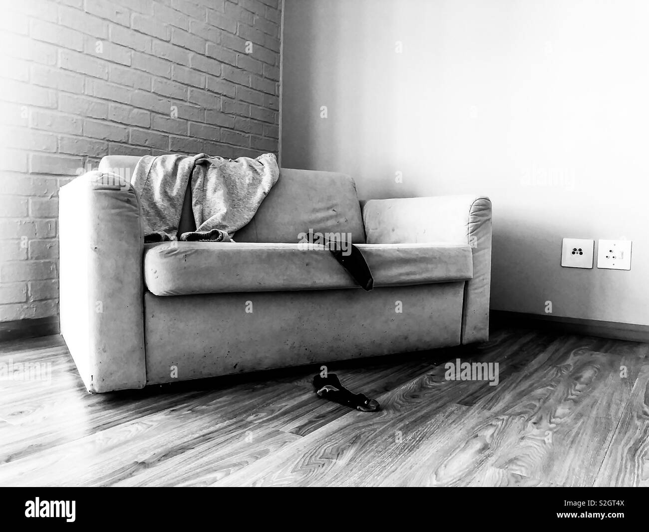 Old couch - Stock Image