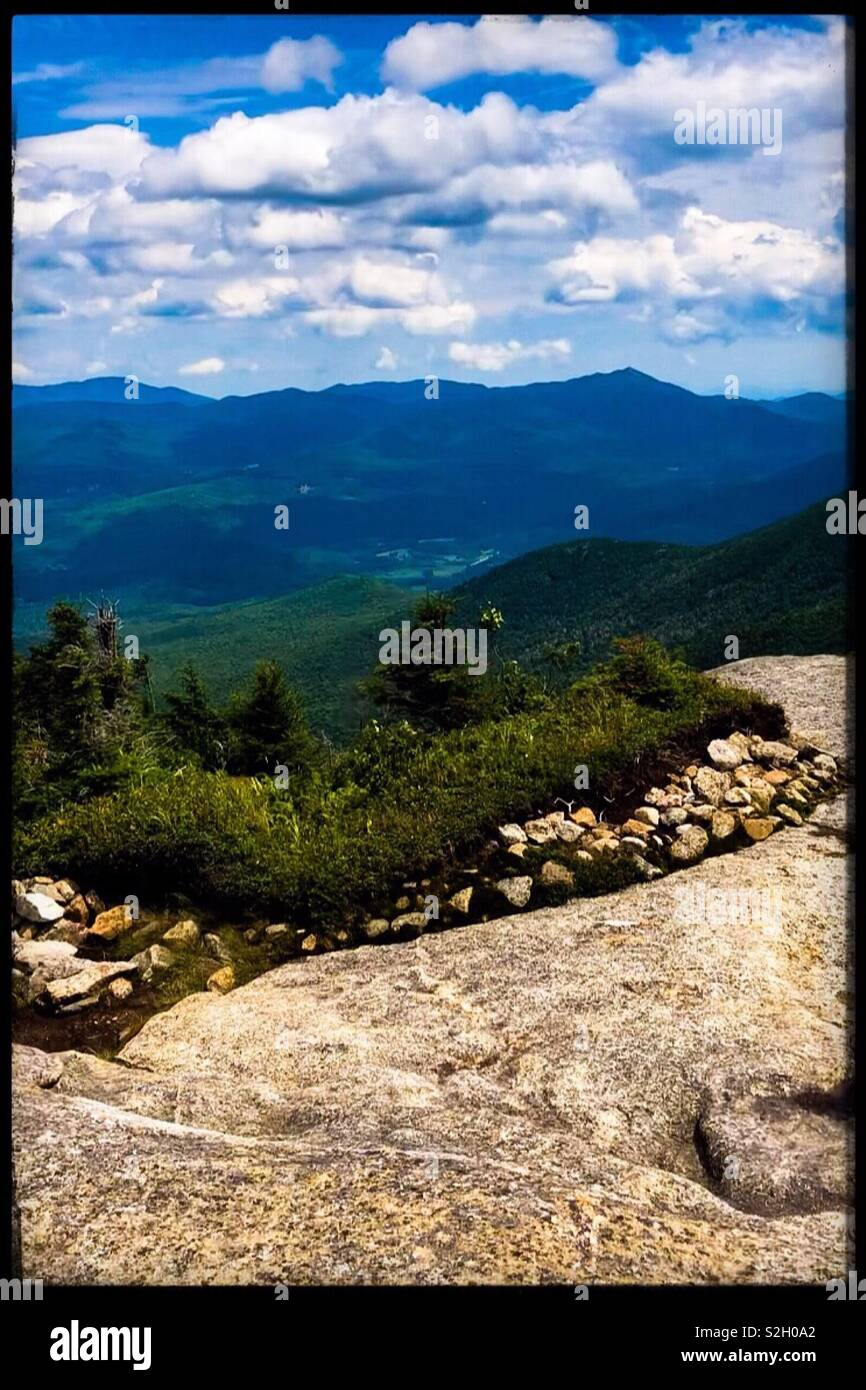 Beautiful Summit from Cascade Mountain, one of the 46 Adirondack High Peaks. This photo symbolizes the hope that lies beyond every summit, and every horizon. - Stock Image